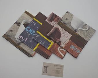 Coffee Klatch Napkins, Coffee Club Napkins, Cloth Napkins, Luncheon Napkins, Lunchbox Napkins - Set of Four