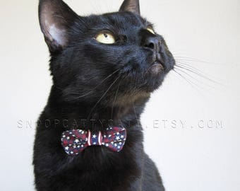 Girl Cat Bow Tie - Star Spangled