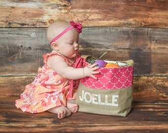 Personalized Girls Easter Basket