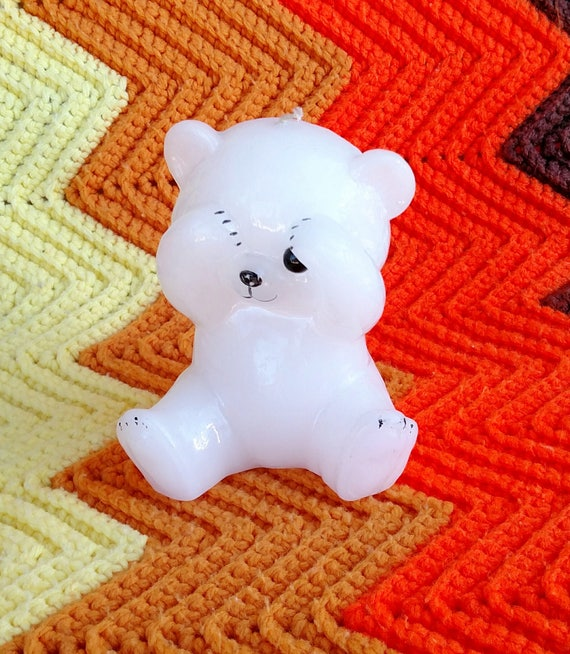 Vintage 1980's Teddy Bear Candle - Super Cute