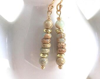 Jasper Gemstone, Earrings, Women's Jewelry