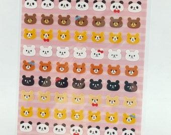 Cute Panda & Bear Deco Sticker
