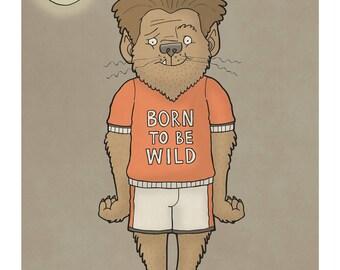 Wolf Boy - Illustration Print