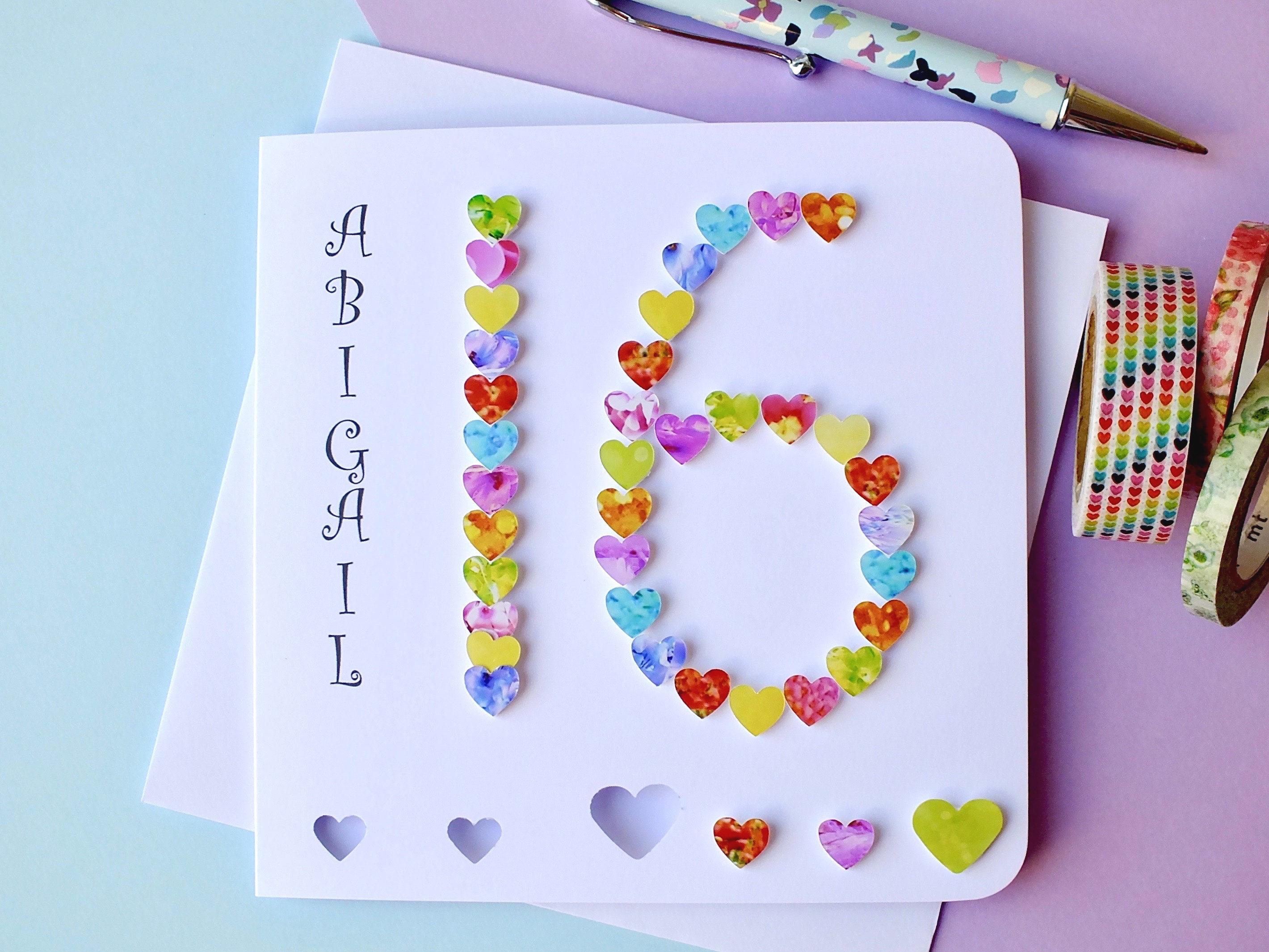 16th Birthday Card Personalised 16th Birthday Sweet