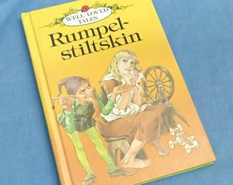 Vintage Ladybird Book Rumpelstiltskin Series 606D Well-Loved Tales - Grade 2 - Glossy Covers