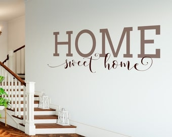 Home Sweet Home Decal   Home Sweet Home Sign   Dining Room Wall Art   Vinyl Part 45