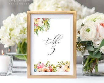 PRE-PRINTED SALE - Reception Table Numbers 1 Through 10 - Mountainside Meadow (Style 13751)