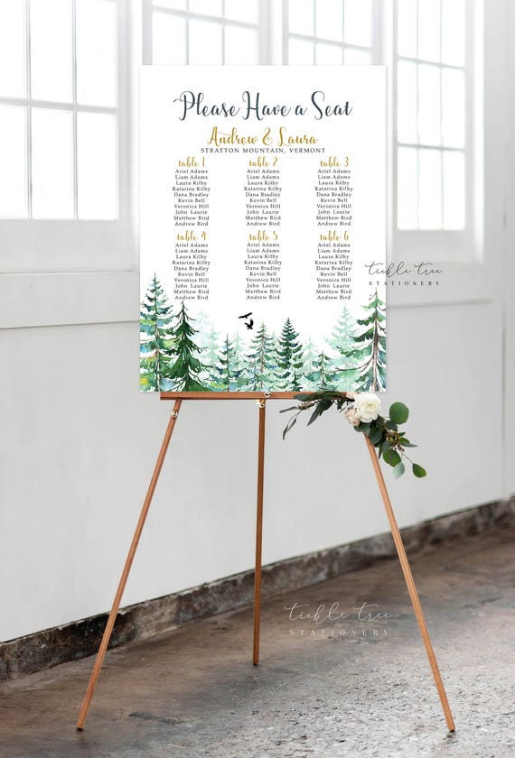 Seating Chart - Rustic Forest (Style 0010)