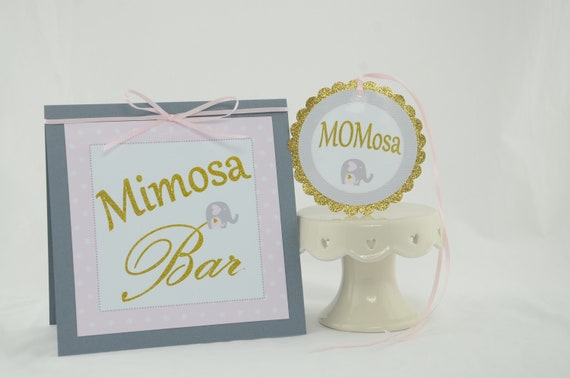 Baby Shower Decorations Girl Baby Shower Pink And Gold Mimosa Bar