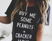 Buy Me Some Peanuts And Cracker Jacks Baseball Tee, Baseball Tee, Baseball Shirt, Baseball Season Shirt, Baseball Top, Summer Shirt