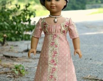 Doll Dress Regency for American Girl 18 inch doll Caroline Josephina Pink