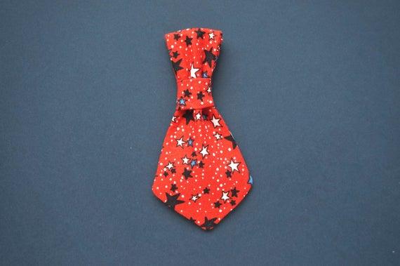 4th of July Stars Mini Dog Tie