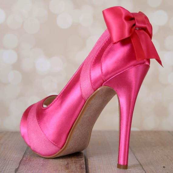 SAMPLE SALE Pink Wedding Shoes Fuchsia Bridal