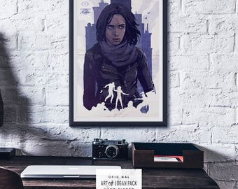 A.K.A. Jessica Jones - MARVEL - The Defenders - Netflix - Comic Book Super Hero - T.V. show - Art of Logan Pack - Original Art Poster