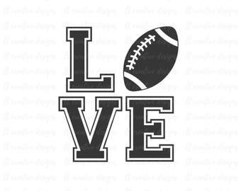 Football Love SVG, Football SVG, Football Cut Files, Svg Files, Cricut Files, Silhouette Files