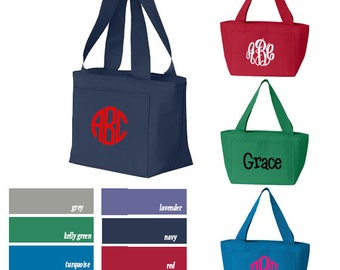 Personalized Lunch Tote | Monogrammed Lunch Bag Cooler | Personalized School Lunch Box| Monogrammed Lunch Box Tote | Monogrammed Cooler