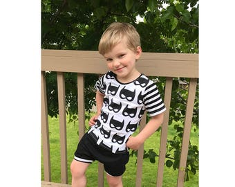 T Shirt and Harem Shorts sewing pattern Pdf, JELLY Boy Girl Jersey Knit T-shirt 0 - 10 years, Harem Shorts with POCKETS 0 - 6 years, BUNDLE