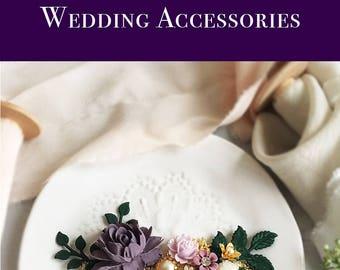 Lavender Wedding Comb, Violet Bridal Hair Clip, Purple Flower Silver Hair Slide, Plum, Mauve, Gray, Personalised Bridesmaid Gift Hair Pin
