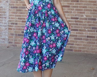 all that jazz 1990's 90's LONG FLORAL SUNDRESS M