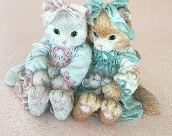 "Calico Kittens Enesco ""We're A Purr-fect Pair"" 1992"