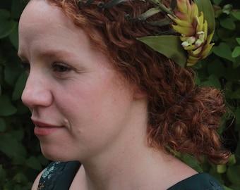 fern and bromeliad crown headpiece
