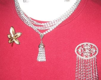4pc LOT - SARAH COVENTRY Necklace & Earring Set Plus 2 More Pins