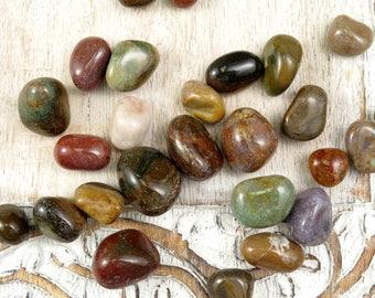 Fancy Jasper Stones - Tumbled Jasper - Polished Jasper -  Healing Crystals Stones - Reiki Healing Crystals - Polished Healing Stones - Mixed