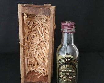 Vintage Chivas Regal Mini Whisky Bottle in Crate with Original Packing Material