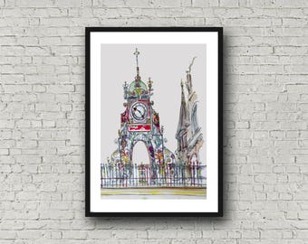 Eastgate Clock, Chester - Print