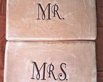 Set Of 2 Bath Mats Personalized Wedding Gift Monogrammed Bath Rugs