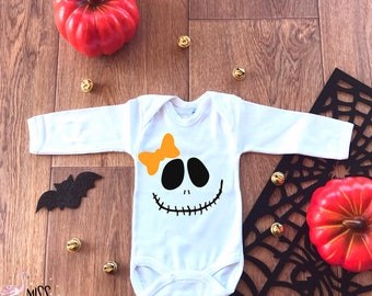 Baby Halloween Outfit,First Halloween Outfit, Skeleton Halloween Baby Onesie,Halloween Jack O Lantern,Halloween Face Onesie,Halloween Outfit