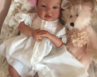 From the Biracial Shyann Kit  Reborn Baby Doll 19 inch Baby Girl Melody Complete Baby Doll