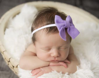 Newborn Bows, Sailor Bow, Baby Girl Headband, Nylon Headband, Baby Bows, Felt Headband, Hair Bows, Girls Hair Clips, Schoolgirl Bows, Bows