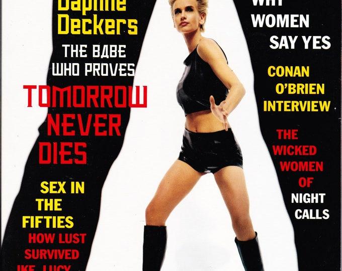 Vintage Playboy Magazine February 1998 with Dutch Supermodel Daphne Deckers, Talk Show Host Conan O'Brien, Paul Thomas Anderson