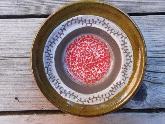 Vine Ceramic Thrown Dish