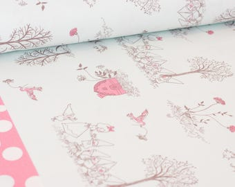 Shinzi Katoh | Japanese fabric - kawaii fabric - Snow White - oxford cotton - pink - 1/2 YD
