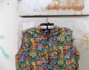 Handmade Jungle Shirt Tunic Dress