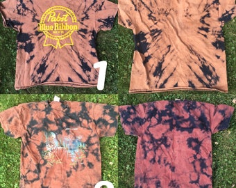 Vintage reclaimed animal tees bleached tie dye