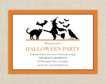 Halloween Party Invitation - Halloween Invitation - Halloween Party
