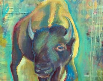 Buffalo dream Original 24x24 painting