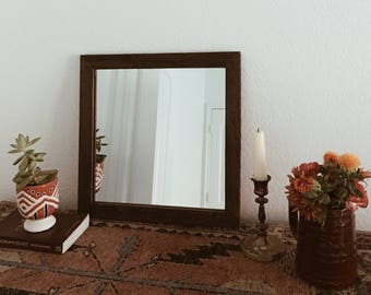 Small Wood Mirror, Rustic Wall Mirror, Small Wall Mirror, Decorative Mirror,  Rustic