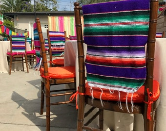 Mexican Colorful Serapes Runner For Chair Cover, Decor, Party, Fiesta,  Birthday,