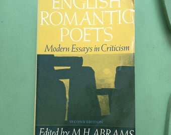 SALE - English Romantic Poets - Modern Essays in Criticism - Literature Text