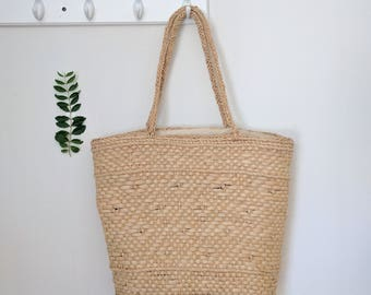 Large French Country Woven Large French Market Tote Straw Market Bag Straw Beach Bag French Basket Basket Purse Straw Handbags Market Tote