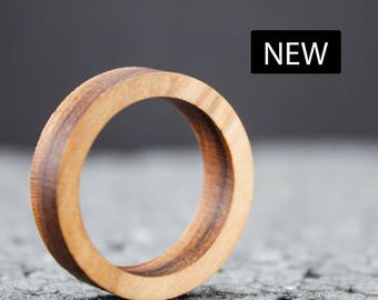 Wood Ring for man and woman Olive Wood, with Gift Box, wooden jewels