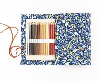 Roll up Travel Pencil Case/ Wrap - Woodland Forest - 50 Pencils - LAST ONE!