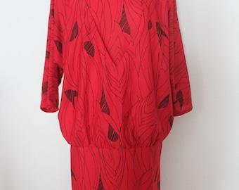 Vintage 80s look Red dress