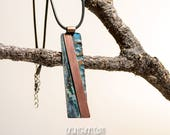 Copper Pendant Necklace w...