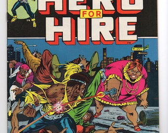 "Luke Cage, Hero For Hire #5 ""Don't Mess With Black Mariah"" - Marvel Comics 1973 - VF-/VF Condition - Jessica Jones, The Defenders, Netflix"
