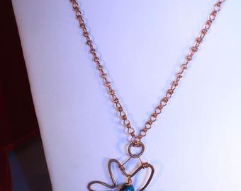 Oak Leaf Wire Necklace